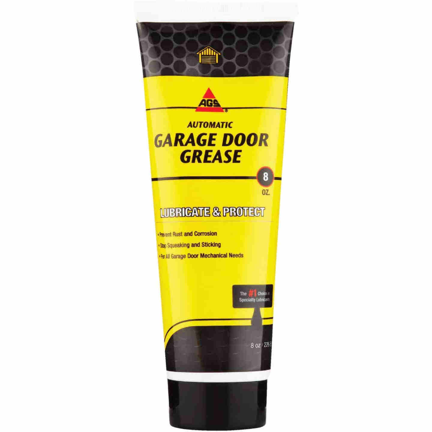 AGS 8 Oz. White Lithium Squeeze Tube Garage Door Opener Grease Image 1