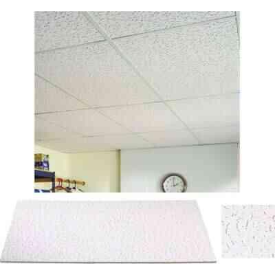 Fifth Avenue 2 Ft. x 4 Ft. White Mineral Fiber Square Edge Ceiling Tile (8-Count)