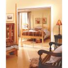 Erias Series 4900 30 In. W. x 80-1/2 In. H. Steel Frameless Mirrored White Bifold Door Image 2