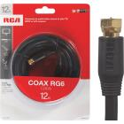 RCA 12 Ft. Black Digital RG6 Coaxial Cable Image 1