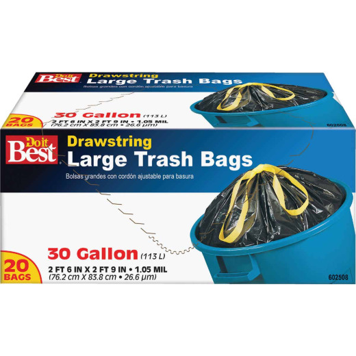 Do it Best 30 Gal. Large Black Trash Bag (20-Count)