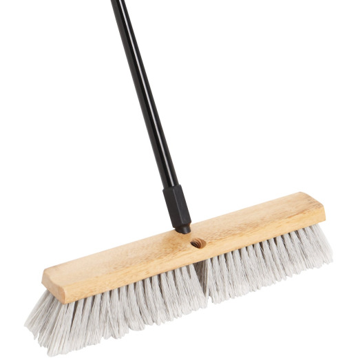 Do it Best 18 In. W. x 60 In. L. Metal Handle Alpine Plus Push Broom