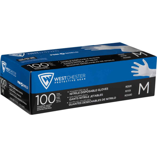 West Chester Protective Gear Posi Shield Medium Nitrile Disposable Glove (100-Pack)