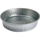 S & K 13 Qt. Round Galvanized Steel Utility Feed Pan Image 1