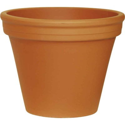 Ceramo 9-3/4 In. H. x 12-1/4 In. Dia. Terracotta Clay Standard Flower Pot